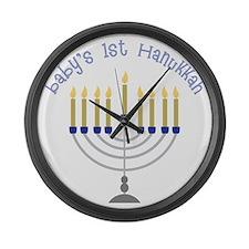 Baby's 1st Hanukkah Large Wall Clock