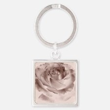 brown rose Square Keychain