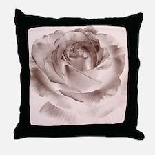 brown rose Throw Pillow