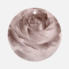 brown rose Round Ornament