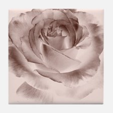 brown rose Tile Coaster