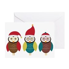 Christmas Owls Greeting Card