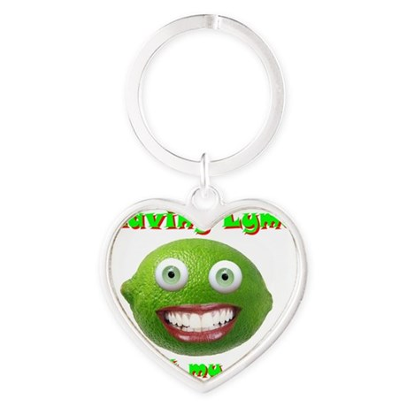 Having Lyme is not my Style Heart Keychain