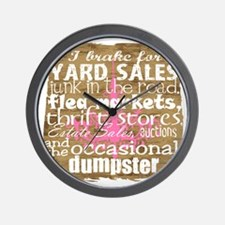 junker shirt brownwithppinkandwhite cop Wall Clock