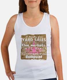 junker shirt brownwithppinkandwhi Women's Tank Top