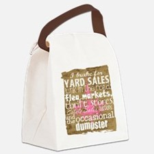 junker shirt brownwithppinkandwhi Canvas Lunch Bag