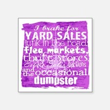 "junker shirt purples Square Sticker 3"" x 3"""
