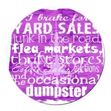junker shirt purples Round Car Magnet