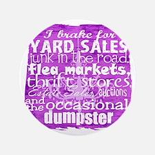 """junker shirt purples 3.5"""" Button"""