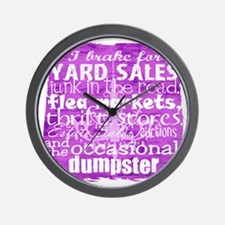 junker shirt purples Wall Clock