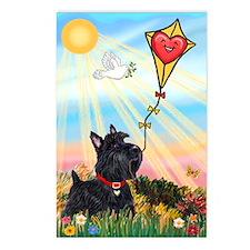 Kite & Scottish Terrier Postcards (Package of 8)