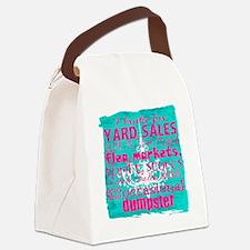 junker shirt bluewithpink Canvas Lunch Bag