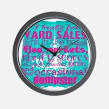 junker shirt bluewithpink Wall Clock