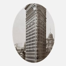 Flatiron Building Oval Ornament