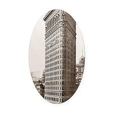 Flatiron Building Oval Car Magnet