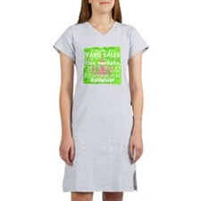 junker shirt greenwithpinkandwh Women's Nightshirt