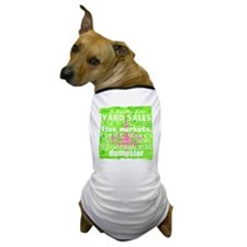 junker shirt greenwithpinkandwhite Dog T-Shirt