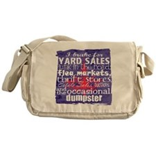 junker shirt blueredwhite Messenger Bag