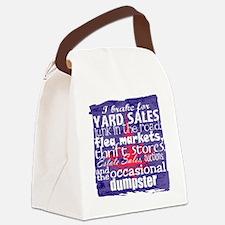 junker shirt blueredwhite Canvas Lunch Bag