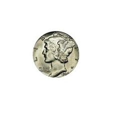 Mercury dime Mini Button