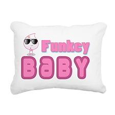 funky baby pink Rectangular Canvas Pillow