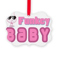 funky baby pink Ornament