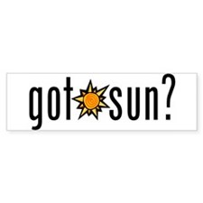 got sun? Bumper Bumper Sticker