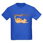 Powered By Cats Kids Dark T-Shirt