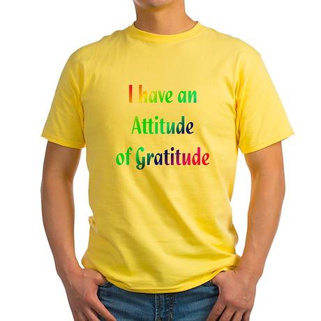 Gratitude Yellow T-Shirt