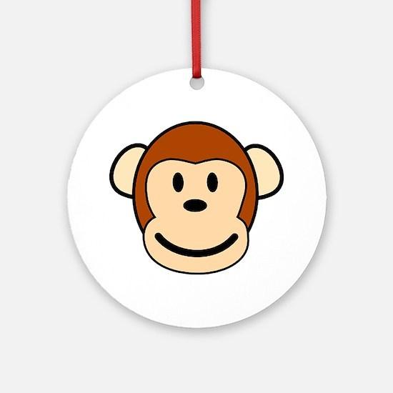 funky monkey Round Ornament