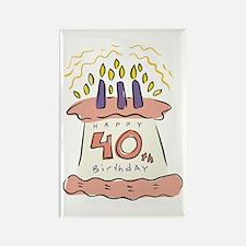 Happy 40th Birthday Rectangle Magnet