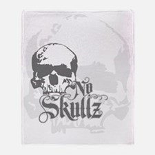 No skulls Throw Blanket