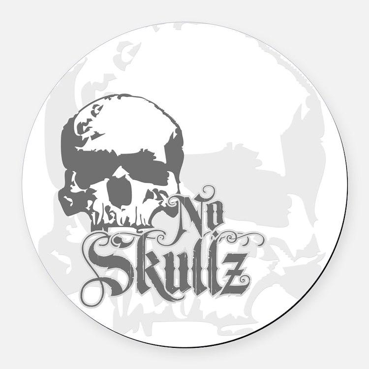 No skulls Round Car Magnet