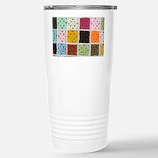 Granny Square Thermos Mug