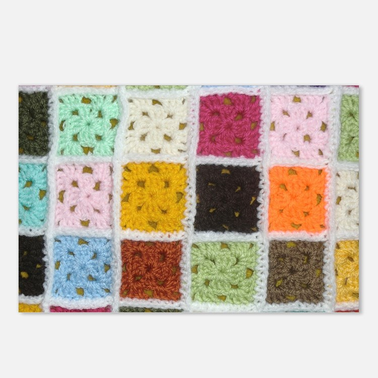 Granny Square Postcards (Package of 8)