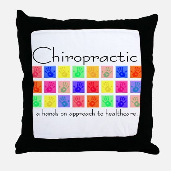 Chiropractic: a hands on appr Throw Pillow
