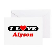 I Love Alyson Greeting Cards (Pk of 10)