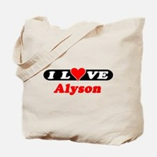 I Love Alyson Tote Bag