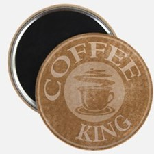 Coffee King Stamp Coffee Logo Magnet