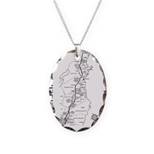Appalachian Trail Map Necklace