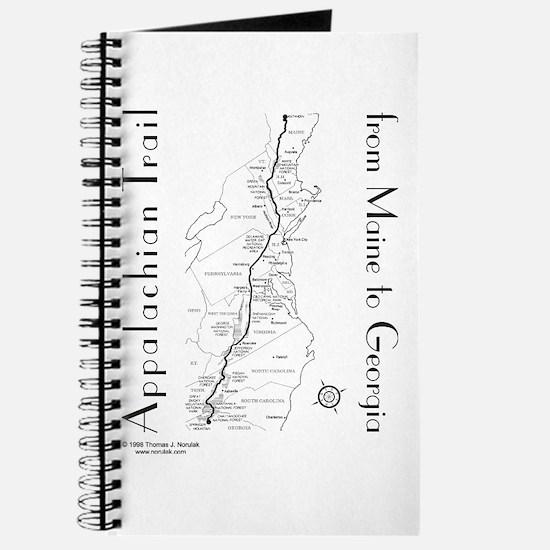 Appalachian Trail Map Journal