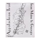 Appalachian trail Fleece Blankets