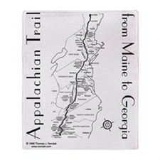 Appalachian Trail Map Throw Blanket