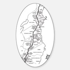 Appalachian Trail Map Sticker (Oval)