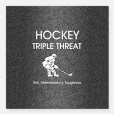 "hockeysdtsq Square Car Magnet 3"" x 3"""