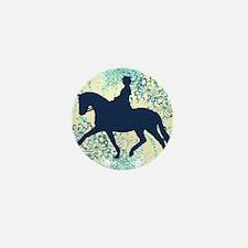 Dressage Horse And Rider Mini Button