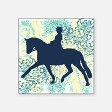"Dressage Horse And Rider Square Sticker 3"" x 3"""