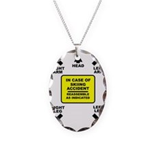 Reassemble Skiing Ski Funny T- Necklace