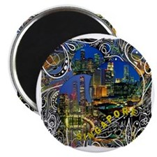 singapore art illustration Magnet