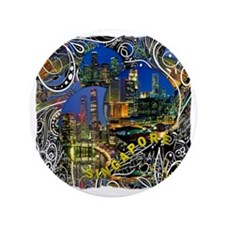 "singapore art illustration 3.5"" Button"